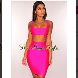 ---Hot Pink Cut Out Dress---